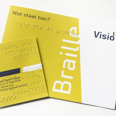 Visio business card and Braille alphabet