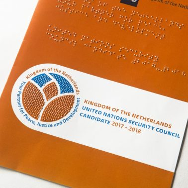 Cover for Netherlands Ministry of the Interior (BZK) with Braille logo