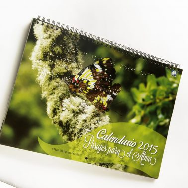 Photo calendar for Costa Rica with Braille script, ringwire-bound