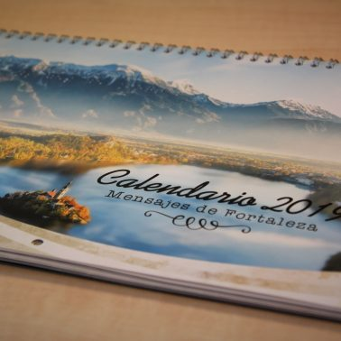 photo calendar for Costa Rica, with braille incorporated